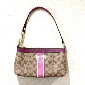 COACH Brown/Purple Small Shoulder Bag